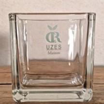 Vase verre carré